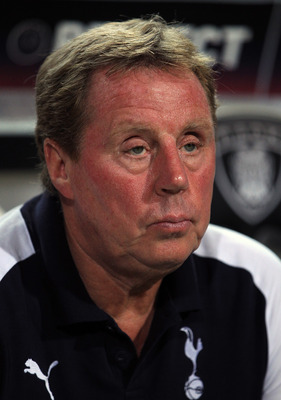 THESSALONIKI, GREECE - SEPTEMBER 15:  Tottenham manager Harry Redknapp looks on ahead the UEFA Europa League group A match between PAOK FC and Tottenham Hotspur at Toumpa Stadium on September 15, 2011 in Thessaloniki, Greece.  (Photo by Vladimir Rys/Getty