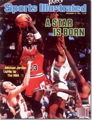 4604d4f3b7 Ez volt Michael Jordan első Sport Illustrated címlap szereplése,  természetesen máris újoncként.