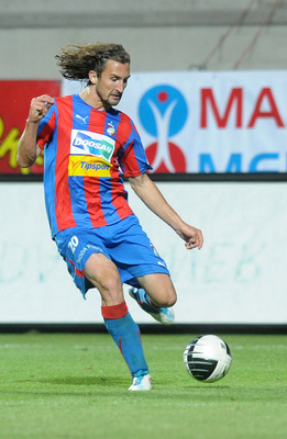 PLZEN, CZECH REPUBLIC - AUGUST 29:  Petr Jiracek of FC Viktoria Plzen in action during the Czech Gambrinus League match between FC Viktoria Plzen and Sparta Praha on August 29, 2011 in Plzen, Czech Republic.  (Photo by Michal Cizek/EuroFootball/Getty Imag
