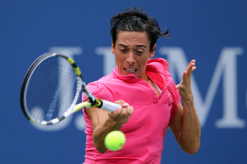 NEW YORK, NY - SEPTEMBER 05:  Francesca Schiavone of Italy returns a shot against Anastasia Pavlyuchenkova of Russia during Day Eight of the 2011 US Open at the USTA Billie Jean King National Tennis Center on September 5, 2011 in the Flushing neighborhood