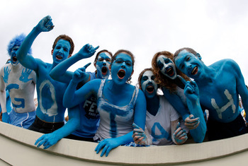 CHAPEL HILL, NC - SEPTEMBER 19:  Fans cheer before the start of the East Carolina Pirates versus North Carolina Tar Heels at Kenan Stadium on September 19, 2009 in Chapel Hill, North Carolina.  (Photo by Streeter Lecka/Getty Images)