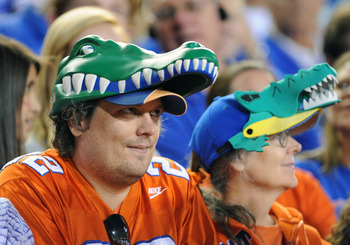 GAINESVILLE, FL - OCTOBER 16:  Fans of the Florida Gators watch a 10 - 7 loss to the Mississippi State Bulldogs October 16, 2010 Ben Hill Griffin Stadium at Gainesville, Florida.  (Photo by Al Messerschmidt/Getty Images)