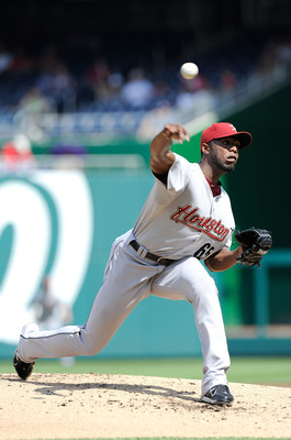 WASHINGTON, DC - SEPTEMBER 11:  Henry Sosa #65 of the Houston Astros pitches against the Washington Nationals at Nationals Park on September 11, 2011 in Washington, DC.  (Photo by Greg Fiume/Getty Images)
