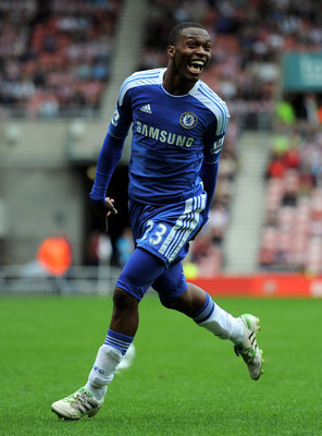 SUNDERLAND, ENGLAND - SEPTEMBER 10:  Daniel Sturridge of Chelsea celebrates after scoring his team's second goal during the Barclays Premier League match between Sunderland and Chelsea at the Stadium of Light on September 10, 2011 in Sunderland, England.