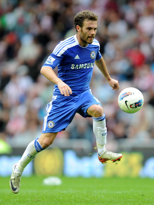 SUNDERLAND, ENGLAND - SEPTEMBER 10:   Juan Mata of Chelsea in action during the Barclays Premier League match between Sunderland and Chelsea at the Stadium of Light on September 10, 2011 in Sunderland, England. (Photo by Michael Regan/Getty Images)