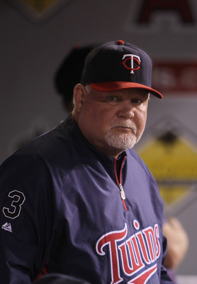 ANAHEIM, CA - SEPTEMBER 03:  Minnesota Twins manager Ron Gardenhire looks on against the Los Angeles Angels of Anaheim at Angel Stadium of Anaheim on September 3, 2011 in Anaheim, California.  (Photo by Jeff Gross/Getty Images)