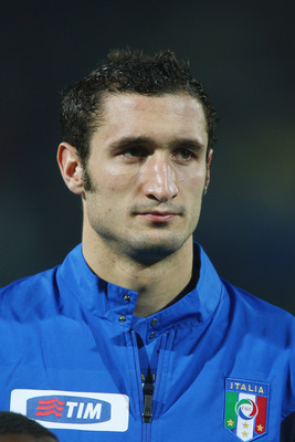 MODENA, ITALY - NOVEMBER 21:  Giorgo Chiellini of Italy during the Euro 2008 Group B qualifying match between Italy and Faroe Islands at the Alberto Braglia Stadium on November 21st,2007 in Modena,Italy.  (Photo by Michael Steele/Getty Images)