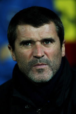 WATFORD, ENGLAND - OCTOBER 19:  Ipswich Manager Roy Keane looks on from the sidelines during the npower Championship match between Watford and Ipswich Town at Vicarage Road on October 19, 2010 in Watford, England.  (Photo by Dean Mouhtaropoulos/Getty Imag