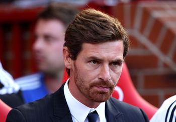 MANCHESTER, ENGLAND - SEPTEMBER 18:  Chelsea Manager Andre Villas Boas looks on prior to the Barclays Premier League match between Manchester United and Chelsea at Old Trafford on September 18, 2011 in Manchester, England.  (Photo by Clive Brunskill/Getty