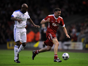 LIVERPOOL, UNITED KINGDOM - MAY 14:  John Aldridge of Liverpool Legends in action during the Hillsborough Memorial match between Liverpool Legends and All Stars XI at Anfield on May 14, 2009 in Liverpool, England.  (Photo by Shaun Botterill/Getty Images)
