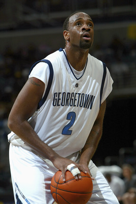 WASHINGTON DC - JANUARY 20:   Courtland Freeman #2 of the Georgetown Hoyas shoots a free throw during the game against the St John's Red Storm on January 20, 2004 at the MCI Center in Washington DC. Georgetown defeated St. John 71-69. (Photo by Doug Pensi