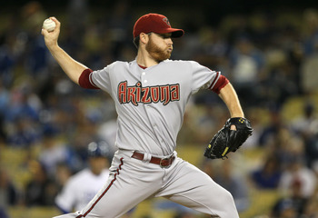 LOS ANGELES, CA - SEPTEMBER 13:  Pitcher Ian Kennedy #31 of the Arizona Diamondbacks throws a pitch againstthe Los Angeles Dodgers on September 13, 2011 at Dodger Stadium in Los Angeles, California.  (Photo by Stephen Dunn/Getty Images)