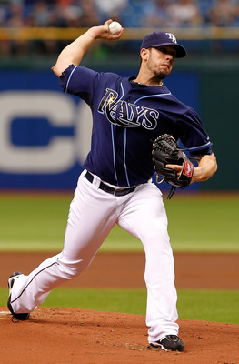 ST PETERSBURG, FL - SEPTEMBER 05:  :  Pitcher James Shields #33 of the Tampa Bay Rays pitches against the Texas Rangers during the game at Tropicana Field on September 5, 2011 in St. Petersburg, Florida.  (Photo by J. Meric/Getty Images)
