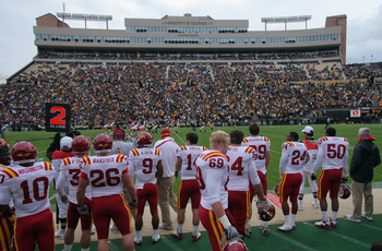 BOULDER, CO - NOVEMBER 13:  A general view of the stadium as the Colorado Buffaloes face the Iowa State Cyclones at Folsom Field on November 13, 2010 in Boulder, Colorado. Colorado defeated Iowa State 34-14.  (Photo by Doug Pensinger/Getty Images)