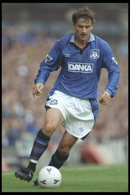 14 Sep 1996:  Andrei Kanchelskis of Everton on the ball during the FA Carling Premiership match between Everton and Middlesbrough at Goodison Park in Liverpool. Mandatory Credit:  Clive Brunskill/Allsport