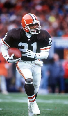 29 NOV 1992:  ERIC METCALF OF THE CLEVELAND BROWNS DURING THE BROWNS V BEARS GAME IN CHICAGO. Mandatory Credit: Jonathan Daniel/ALLSPORT