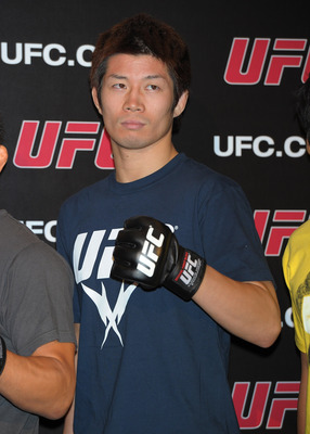 TOKYO, JAPAN - SEPTEMBER 06:  Hatsu Hioki attends the UFC press conference at Shinjuku Wald 9 on September 6, 2011 in Tokyo, Japan. The UFC will hold the Japan Tournament on February 26, 2012.  (Photo by Koki Nagahama/Getty Images)