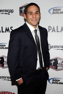 LAS VEGAS, NV - DECEMBER 01:  Mixed martial artist Chad Mendes arrives at the third annual Fighters Only World Mixed Martial Arts Awards 2010 at the Palms Casino Resort December 1, 2010 in Las Vegas, Nevada.  (Photo by Ethan Miller/Getty Images)