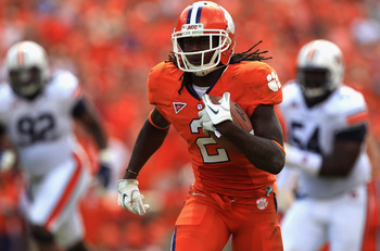 CLEMSON, SC - SEPTEMBER 17:  Sammy Watkins #2 of the Clemson Tigers runs with the ball against the Auburn Tigers during their game at Memorial Stadium on September 17, 2011 in Clemson, South Carolina.  (Photo by Streeter Lecka/Getty Images)