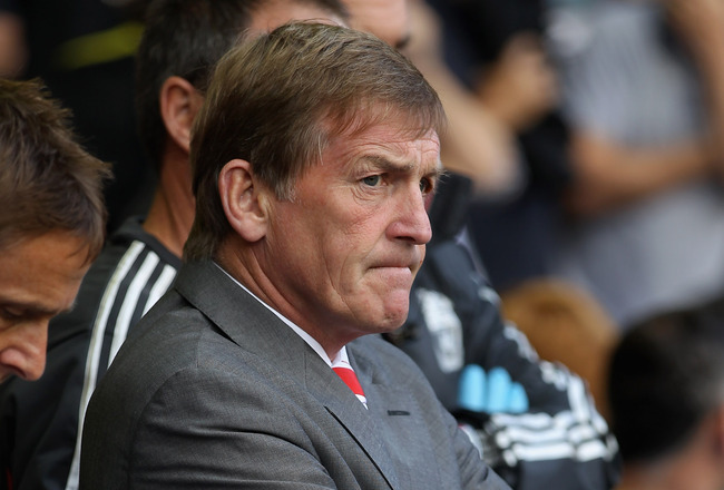 LIVERPOOL, ENGLAND - AUGUST 27:  Liverpool manager Kenny Dalglish looks on during the Barclays Premier League match between Liverpool and Bolton Wanderers at Anfield on August 27, 2011 in Liverpool, England.  (Photo by Clive Brunskill/Getty Images)
