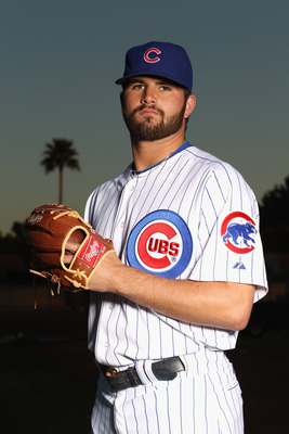 MESA, AZ - FEBRUARY 22:  Trey McNutt #71 of the Chicago Cubs poses for a portrait during media photo day at Finch Park on February 22, 2011 in Mesa, Arizona.  (Photo by Ezra Shaw/Getty Images)