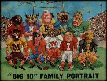 "A Big Ten Conference ""family portrait"", circa 1969."