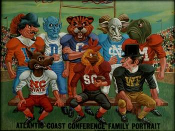 "An Atlantic Coast Conference ""family portrait"", circa 1969."