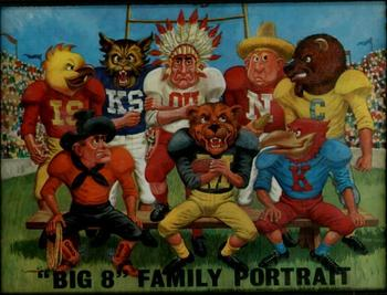 "A Big Eight Conference ""family portrait"", circa 1969."