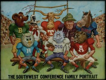"A Southwest Conference ""family portrait"", circa 1969."