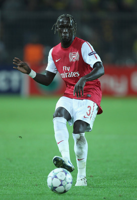 DORTMUND, GERMANY - SEPTEMBER 13:  Bacary Sagna of Arsenal in action during the UEFA Champions League Group F match between Borussia Dortmund and Arsenal FC at Signal Iduna Park on September 13, 2011 in Dortmund, Germany.  (Photo by Ian Walton/Getty Image