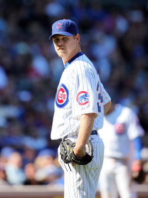 CHICAGO, IL - SEPTEMBER 17: Kerry Wood #34 of the Chicago Cubs pitches against the Houston Astros at Wrigley Field on September 17, 2011 in Chicago, Illinois.  (Photo by Tasos Katopodis /Getty Images)