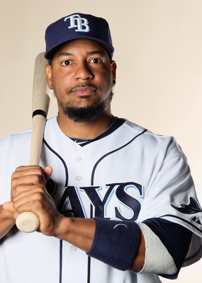 FT. MYERS, FL - FEBRUARY 22:  Manny Ramirez #24 of the Tampa Bay Rays poses for a portrait during the Tampa Bay Rays Photo Day on February 22, 2011 at the Charlotte Sports Complex in Port Charlotte, Florida.  (Photo by Elsa/Getty Images)