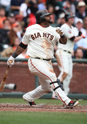 SAN FRANCISCO, CA - SEPTEMBER 14: Pablo Sandoval #48 of the San Francisco Giants drives a ball during a game against the San Diego Padres at AT&T Park on September 14, 2011 in San Francisco, California.  (Photo by Tony Medina/Getty Images)