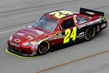 RICHMOND, VA - SEPTEMBER 09:  Jeff Gordon, driver of the #24 Drive to End Hunger Chevrolet, practices for the Sprint Cup Series Wonderful Pistachios 400 at Richmond International Raceway on September 9, 2011 in Richmond, Virginia.  (Photo by Todd Warshaw/