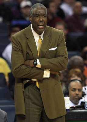 CHARLOTTE, NC - MARCH 07:  Head coach Paul Silas of the Charlotte Bobcats reacts during their game against the Los Angeles Clippers at Time Warner Cable Arena on March 7, 2011 in Charlotte, North Carolina. NOTE TO USER: User expressly acknowledges and agr
