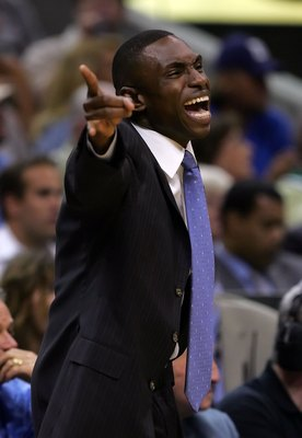 DALLAS - JUNE 11:  Head coach Avery Johnson of the Dallas Mavericks yells in the fourth quarter against the Miami Heat in game two of the 2006 NBA Finals on June 11, 2006 at American Airlines Center in Dallas, Texas. The Mavericks defeated the Heat 99-85