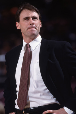 1 Dec 2001:  This is a close up of head coach Rick Carlisle of the Detroit Pistons. The picture was taken during the NBA game against the New York Knicks at Madison Square Garden in New York City, New York. The Pistons defeated the Knicks 100-97.  NOTE TO
