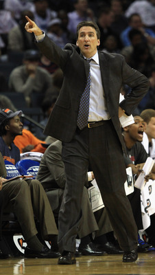 CHARLOTTE, NC - MARCH 07:  Head coach Vinny Del Negro of the Los Angeles Clippers yells to his team during their game against the Charlotte Bobcats at Time Warner Cable Arena on March 7, 2011 in Charlotte, North Carolina. NOTE TO USER: User expressly ackn