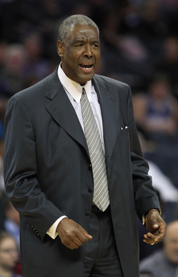 CHARLOTTE, NC - FEBRUARY 25:  Head coach Paul Silas of the Charlotte Bobcats reacts to a call during their game against the Sacramento Kings at Time Warner Cable Arena on February 25, 2011 in Charlotte, North Carolina. NOTE TO USER: User expressly acknowl