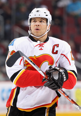 GLENDALE, AZ - MARCH 10:  Jarome Iginla #12 of the Calgary Flames in action during the NHL game against the Phoenix Coyotes at Jobing.com Arena on March 10, 2011 in Glendale, Arizona.  The Coyotes defeated the Flames 3-0.  (Photo by Christian Petersen/Get