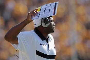 Colorado coach Jon Embree gets his first victory