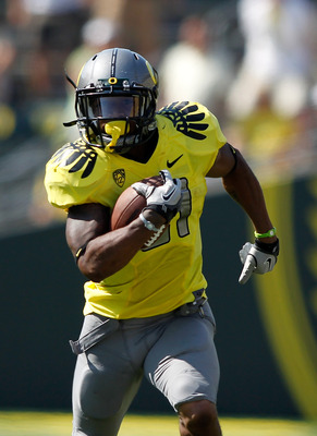 Oregon RB LaMichael James rushed for 204 yards and three TDs against Missouri State