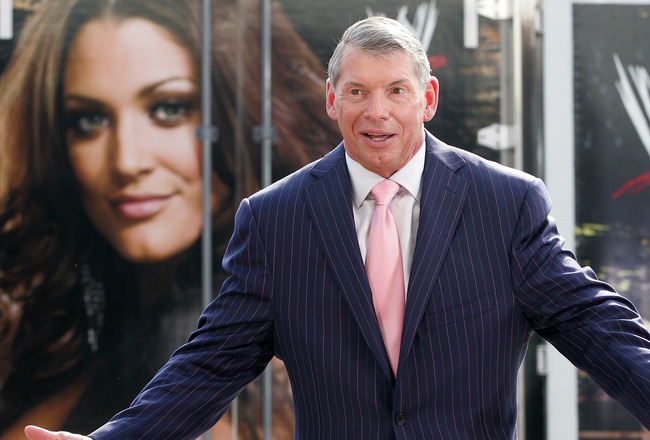 GREEN BAY, WI - JUNE 22:   Vince McMahon attends a press conference about the WWE at the Austin Straubel International Airport on June 22, 2009 in Green Bay, Wisconsin.  (Photo by Mark A. Wallenfang/Getty Images)