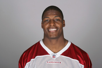 TEMPE, AZ - CIRCA 2011: In this handout image provided by the NFL,  Adrian Wilson of the Arizona Cardinals poses for his NFL headshot circa 2011 in Tempe, Arizona. (Photo by NFL via Getty Images)