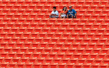 MIAMI GARDENS, FL - SEPTEMBER 18:  Fans wait in the stands before the game between the Miami Dolphins and the Houston Texans at Sun Life Stadium on September 18, 2011 in Miami Gardens, Florida.  (Photo by Sam Greenwood/Getty Images)