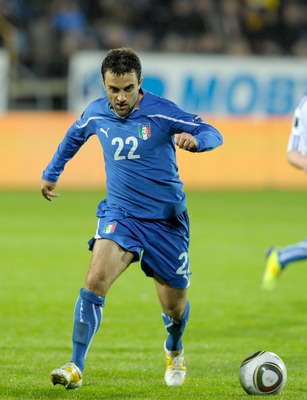 TORSHAVN, DENMARK - SEPTEMBER 02:  Giuseppe Rossi of Italy in action during the EURO 2012 Qualifier match between Faroe Islands and Italy at Torsvollur Stadium on September 2, 2011 in Torshavn, Denmark.  (Photo by Claudio Villa/Getty Images)
