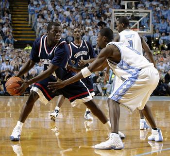 A Huskies - Tarheels game in 2004