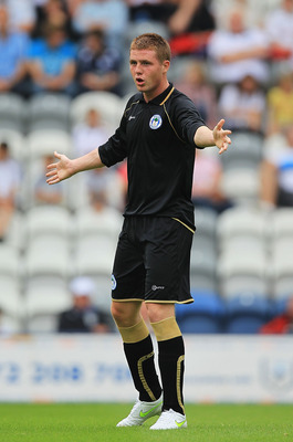 PRESTON, LANCASHIRE - JULY 31:  James McCarthy of Wigan Athletic in action during the pre-season friendly match between Preston North End and Wigan Athletic at Deepdale on July 31, 2011 in Preston, Lancashire.  (Photo by Matthew Lewis/Getty Images)