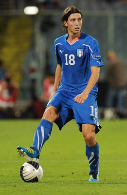 FLORENCE, ITALY - SEPTEMBER 06:  Riccardo Montolivo of Italy in action during the UEFA EURO 2012 Group C qualifying match between Italy and Slovenia at Stadio Artemio Franchi on September 6, 2011 in Florence, Italy.  (Photo by Valerio Pennicino/Getty Imag