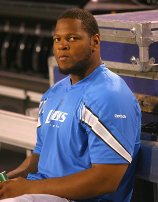 Detroit LIons defensive tackle Ndamukong Suh has his gameface on.